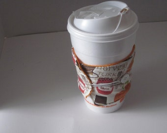 Thanksgiving Coffee Sleeve Reusable