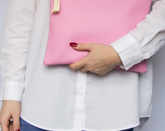 SALE! Powder Pink Oversized Clutch Bag