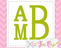 EXCLUSIVE  Stacked Serif Monogram SVG & DXF Font Cut Files