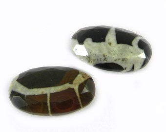 On sale - 1 pc - Natural - Septarian - 15x25mm - Oval Tablet cut - gemstone Cab - Semi precious stone - Loose Gemstone - SHST0552