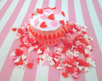 Polymer Clay Heart Sprinkles, Fake Sprinkles, Decoden Funfetti Rainbow Jimmies, E17