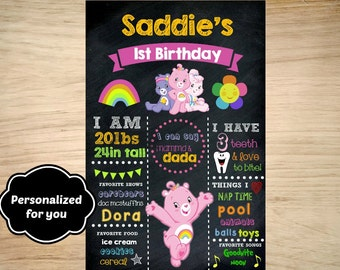 Carebears Birthday sign,Carebears Birthday,Carebears sign,JPG file,sign,Birthday sign,Carebears,Care Bears,Carebears party