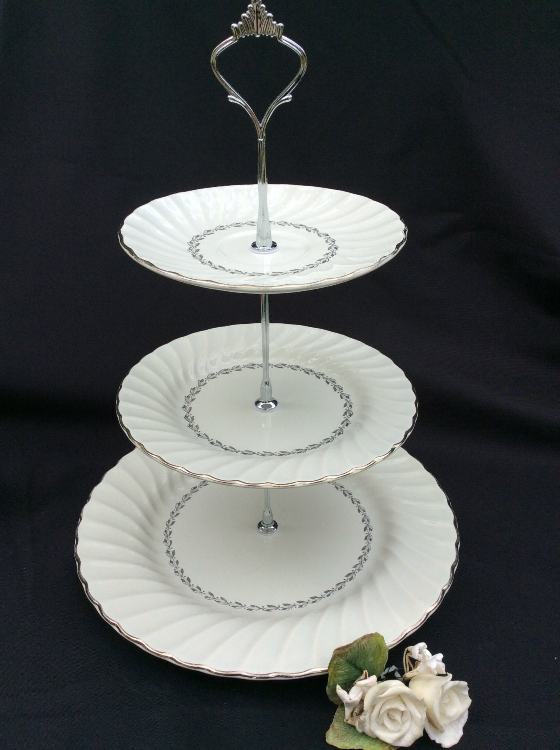 Cake Stand Wedding Cake Stand Silver Plate 3 Tier Cake