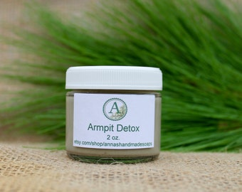 Armpit Detox, Underarm Detox, Detox, Clay, Bentonite Clay Detox,Aztec Indian Healing Clay,Natural Calcium Bentonite Clay,Green Clay,Handmade