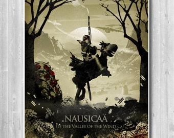 Nausicaä Poster, inspired by Nausicaä of the Valley of the Wind, Hayao Miyazaki Minimalist Movie poster , Anime poster, Japanese Anime Print