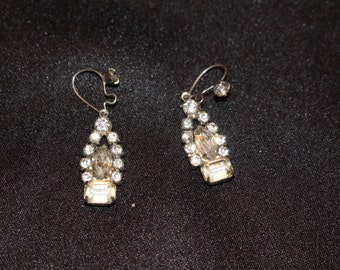 Vintage Rhinestone Earrings