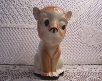 Whimsical Sitting Dog Figurine