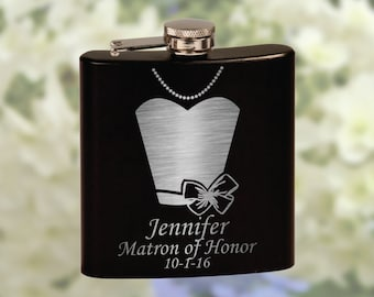 Bridesmaid Flask - Wedding Flask - Personalized Bridesmaid Flasks - Custom Bridesmaid Gift - Wedding Favor