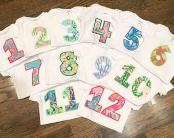 Lilly Pulitzer Monthly Onesies