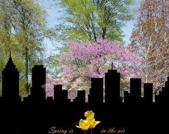 City Skyline - Spring