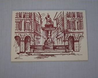 Vintage 1970's - Greeting Card Blank - American international women's club of Genoa