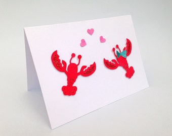 Lobste Valentine's card, you're my lobster, Card for her, card for him, Anniversary card, Romantic card, I love you card, Anniversary