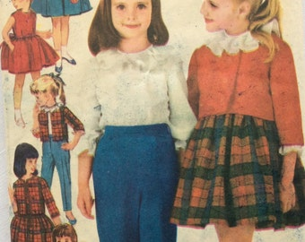 Advance 3038 vintage 1960's girls jumper, blouse, jacket & pants sewing pattern size 8