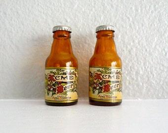 Vintage Acme Beer Acme Breweries Salt and Pepper Shakers