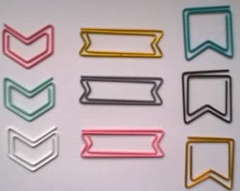Set Of  14 Websters Pages Paper Clips ,Butterfly,Envelope,Star,Ampersand,  Speech Bubble,Etc.