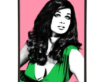 Valerie Leon pop art inspired by cult film Blood from the Mummy's Tomb, part of the Hammer Horror range inspired by cult horror films