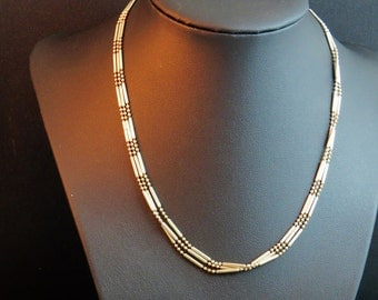 Sterling Silver Multi Strand Sterling Silver 925 beaded necklace