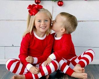 PRE-ORDER Striped Kids Christmas Pajamas