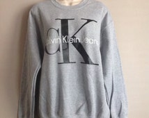 Classic old school Calvin Klein sweatshirt top urban swag luxe style fashion