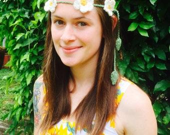 Daisy Crochet Flower Crown