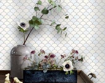 Tile Decals - Tiles for Kitchen/Bathroom Back splash - Floor decals - Shell Tile Sticker Pack Pastille