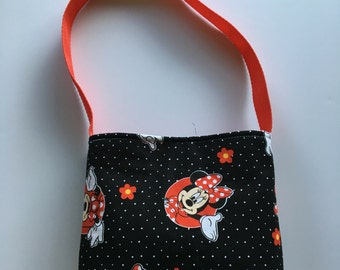 Black and Red Minnie Mouse toddlers/little girls purse