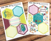 FALL LEAVES - Planner Stickers - Mission Board HEXAGONS - perfect for Inkwell Press Mission Board! {IWP1101-1-2}