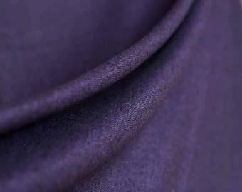 Soft and comfie rich purple and black cotton herringbone fabric -