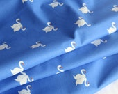Sommer Swan in Blue by Sarah Jane for Michael Miller fabrics - 1 Yard