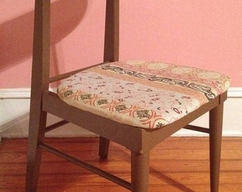 On Sale Vintage Mid Century Modern Danish Painted Walnut Side Desk Chair Mid Century Modern
