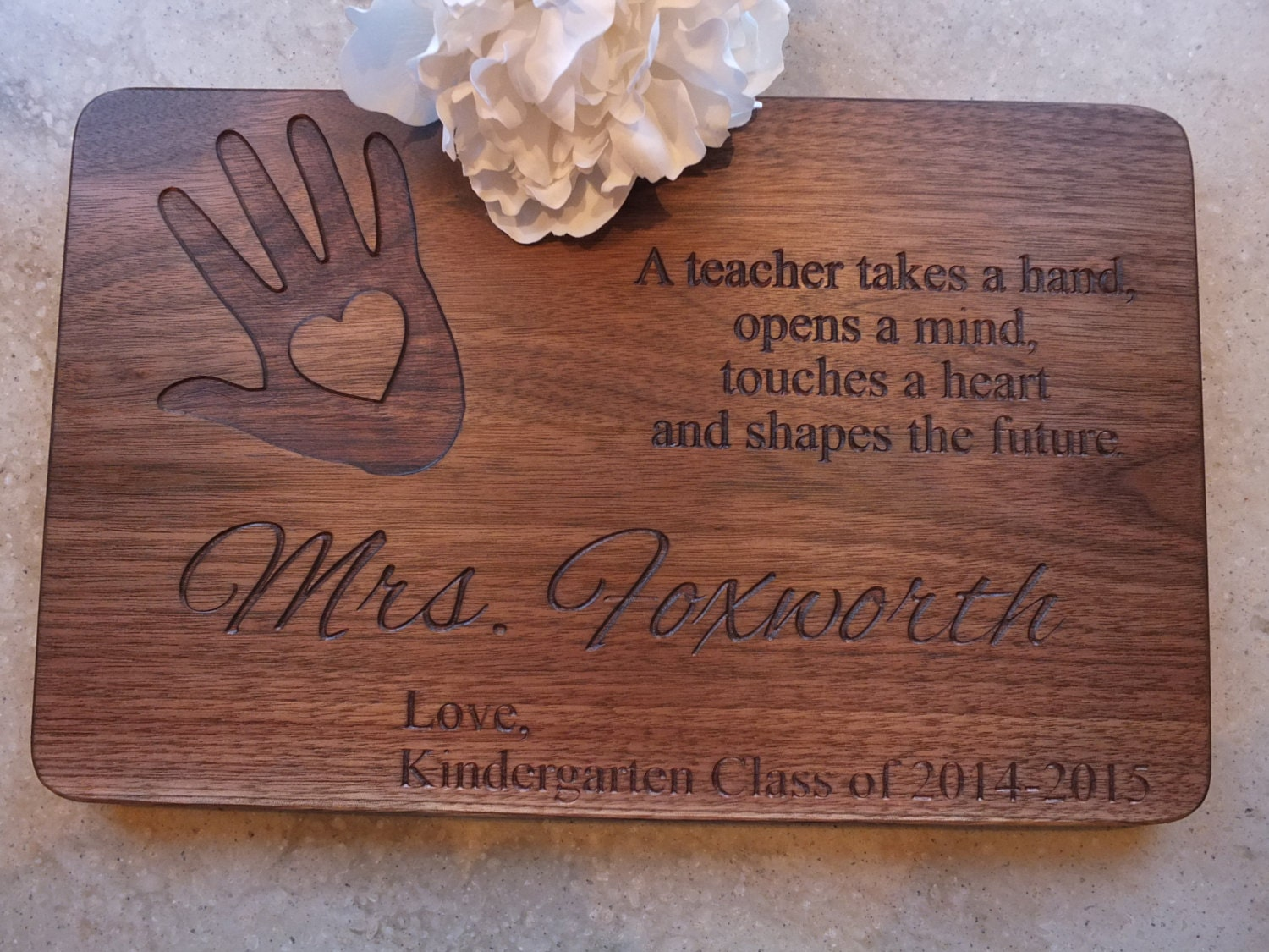 Great Kitchen Gift Teacher Gift Personalized Cutting Board Or Sign Makes A Great
