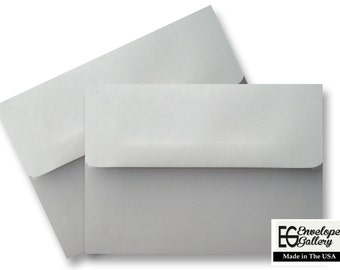 Pastel Gray (100 Boxed) Envelopes for  Invitations Announcements Response Cards Enclosures Showers Weddings  Communions A1 A2 A6 A7 Grey