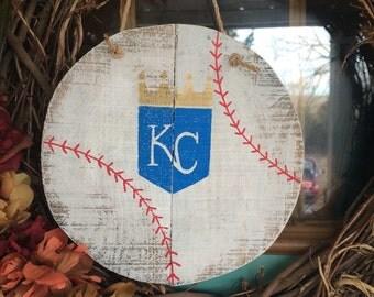 Kansas City royals baseball sign, baseball sign