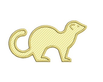 Ferret Applique Embroidery Design in 3 Sizes - INSTANT DOWNLOAD