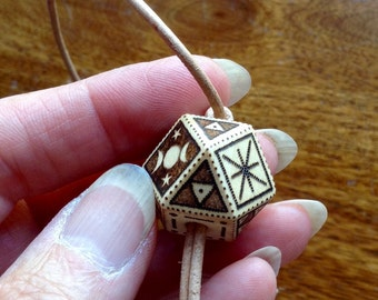 Wooden Geometric Toggle Necklace