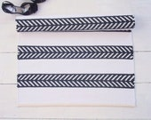 Black and white cotton rug, scandinavian design, handmade, washable, double-sided, woven on the loom, made to order