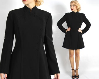 90s Black Mini Dress | Herve Leger Dress | Paris Designer| Little Black Dress | Medium