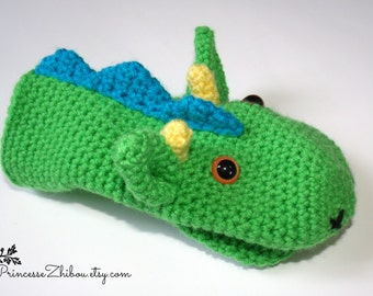 READY TO GO Dragon puppet for children, indoor game, toy for car or travel, one size
