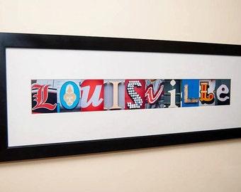 Louisville Letters Print