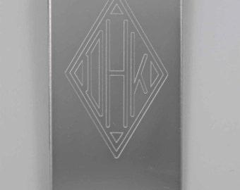 Personalized, Custom Monogrammed, Engraved, Stainless Steel, money clip, custom made, custom engraved money clip