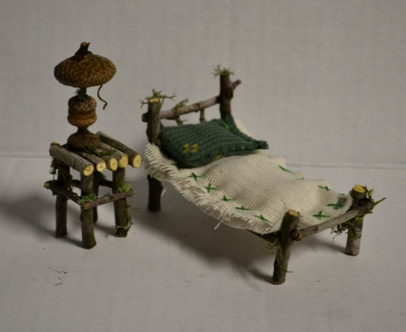 Fairy Bedroom Furniture Bed And Nightstand By Snarlingbunny
