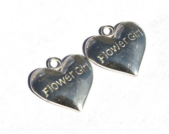 2 Pcs Silver Plated Brass Heart Charm 16x16mm Heart Charm Pendant, Small Charm Pendant CH24