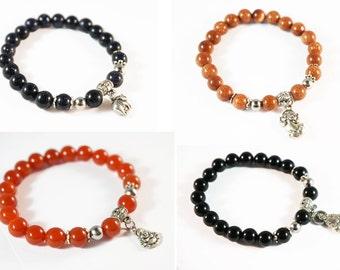 Natural Gemstone Short Prayer Bracelet