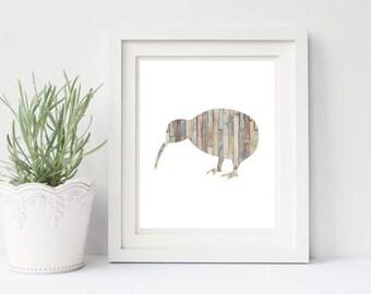 Kiwi Digital Art Print