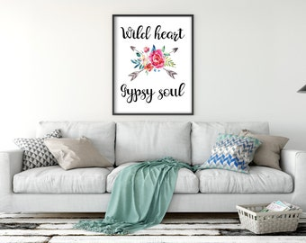 Wild Heart Gypsy Soul Digital Art Print