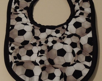 Soccer themed Baby Bib