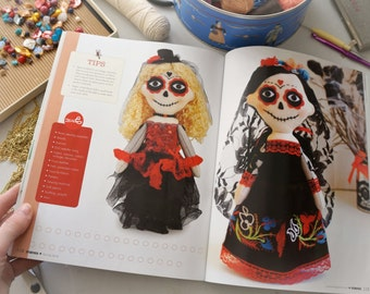 Day of the Dead Catrina dolls. Made to order and personalized. Creepy cute original gift. Featured on the Stuffed Magazine.