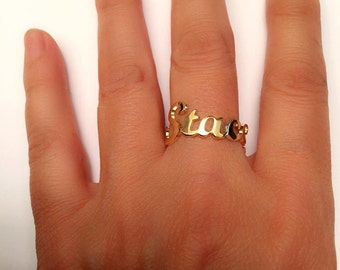 Name Ring, Gold Ring Name, Initial Ring , Custom Ring, Personalized name ring, Custom Name Ring,  Personalized Ring