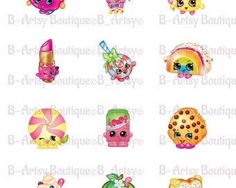 Shopkins Toppers 2 Inch circles, Instant Download, Digital file