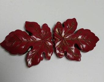 Vintage clasp buckle Canadian maple leaf diy
